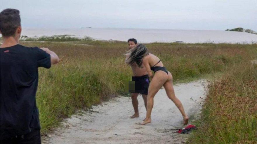 Bikini çekiminde tacizci şoku… Mankenden tekme tokat dayak yedi!