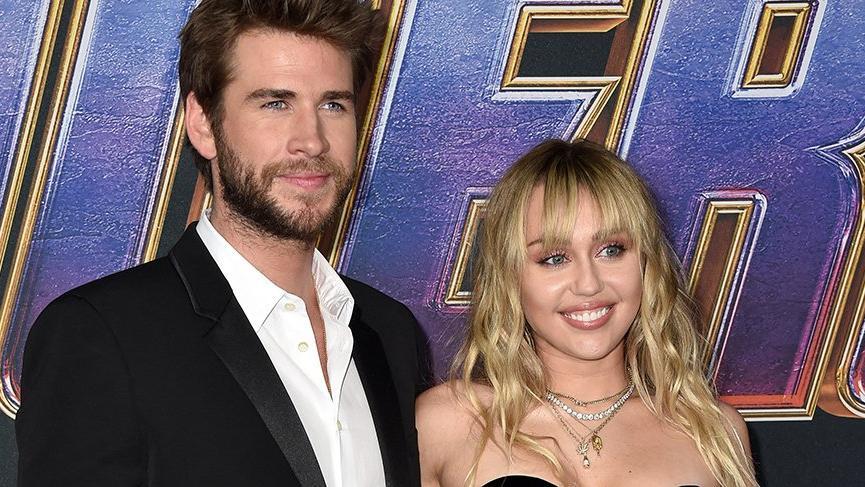 Miley'den eşi Liam'a 'dilli' şaka