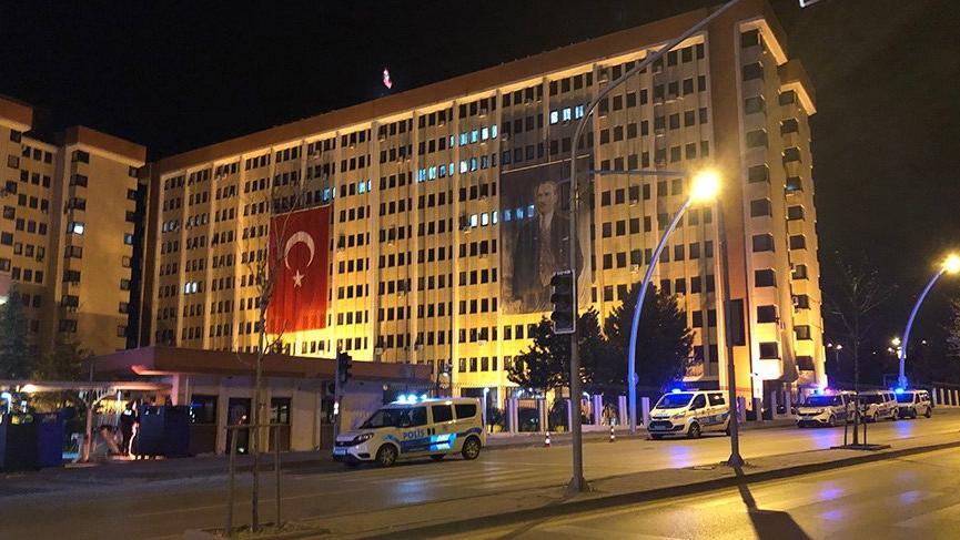 Ankara Emniyet Genel Müdürlüğü'nde yangın paniği