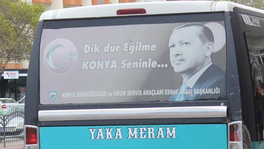 Konya minibüslerinde Erdoğan dönemi sona eriyor