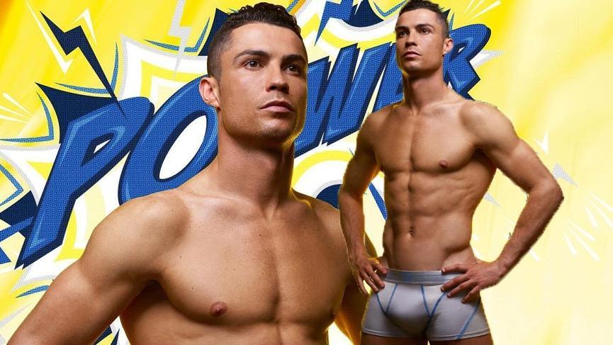 Ronaldo iç çamaşırı kampanyasında süper kahraman oldu