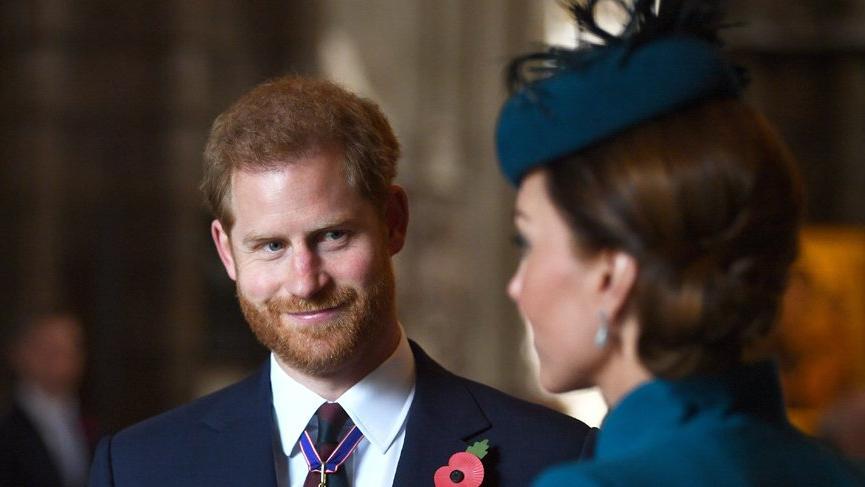 Prens Harry ve Kate Middleton Anzak Anma Töreni'ne katıldı