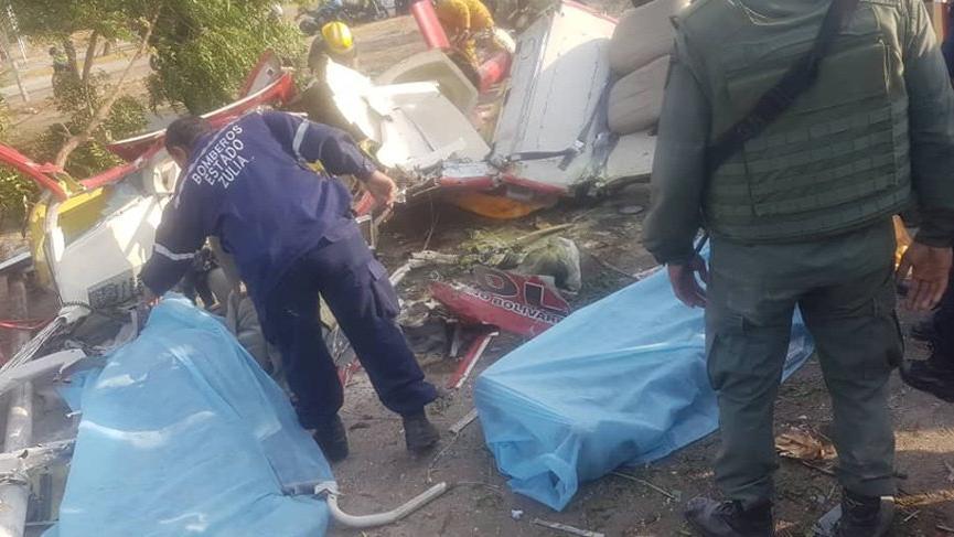 Venezuela'da polis helikopteri düştü! General ve pilot öldü