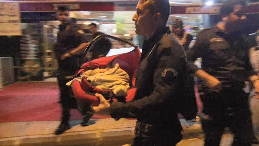 Yanında bebeği bulunan kadına silahlı saldırı