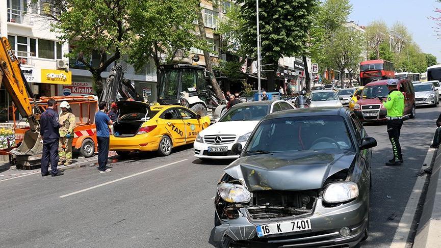 Beşiktaş'ta zincirleme kaza