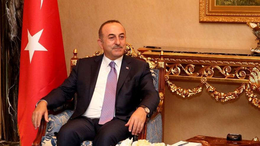 Çavuşoğlu IKBY Başkanı Barzani ile görüştü