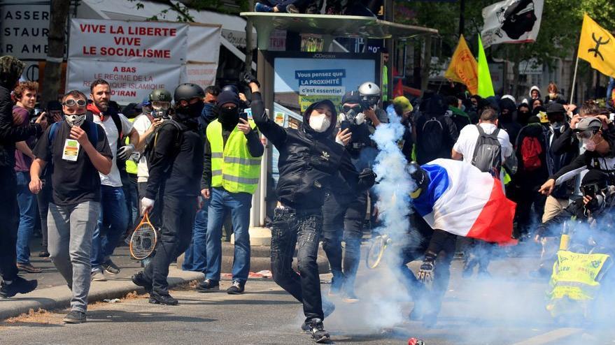 Fransa'da Sarı Yelekliler, 1 Mayıs'ta sokağa çıktı