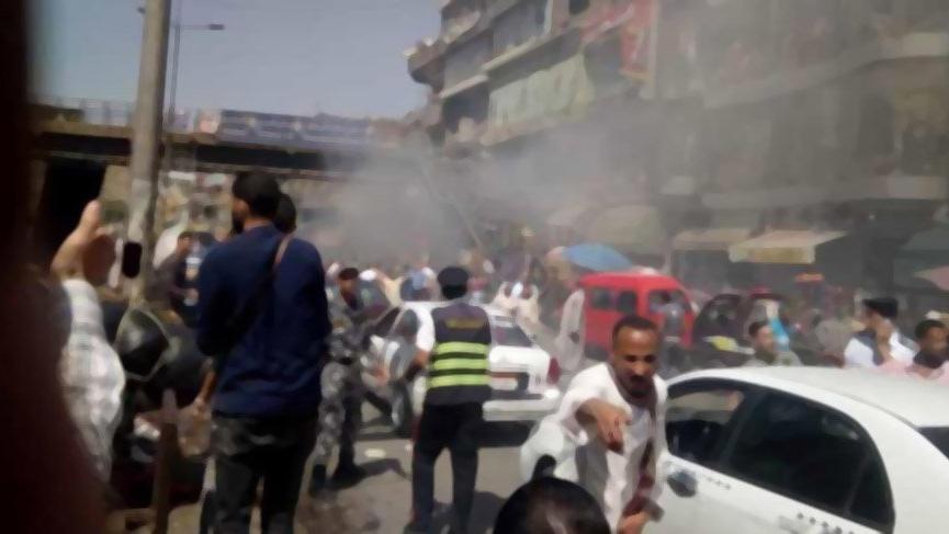 Mısır'da bir çarşıda çıkan yangında 51 kişi yaralandı
