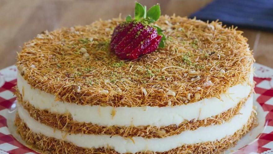 Kadayıflı irmik pastası tarifi: Kadayıflı irmik pastası nasıl yapılır?