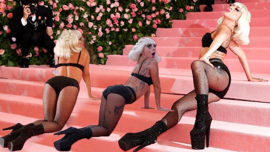 Lady Gaga MET Gala 2019'daki stiliyle güne damgasını vurdu