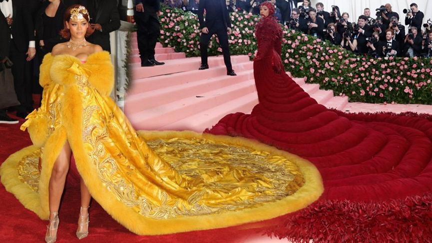 Cardi B MET Gala'da Rihanna'nın stilini taklit etti