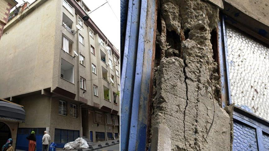 Son dakika: İstanbul, Esenler'de bir bina çökme riski nedeniyle boşaltıldı