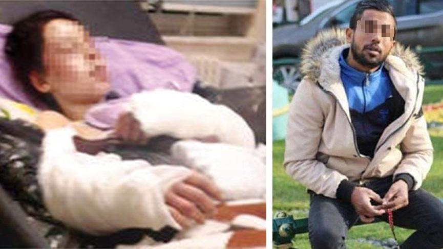 Hamileyken kürekle döven kocasından şikayetçi olmadı
