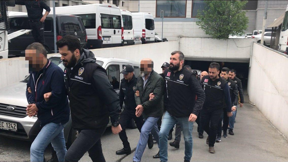 'Sarallar suç örgütü' üyeleri adliyeye gönderildi