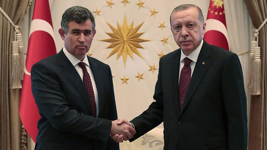 Metin Feyzioğlu'ndan Cumhurbaşkanı Erdoğan'a ziyaret
