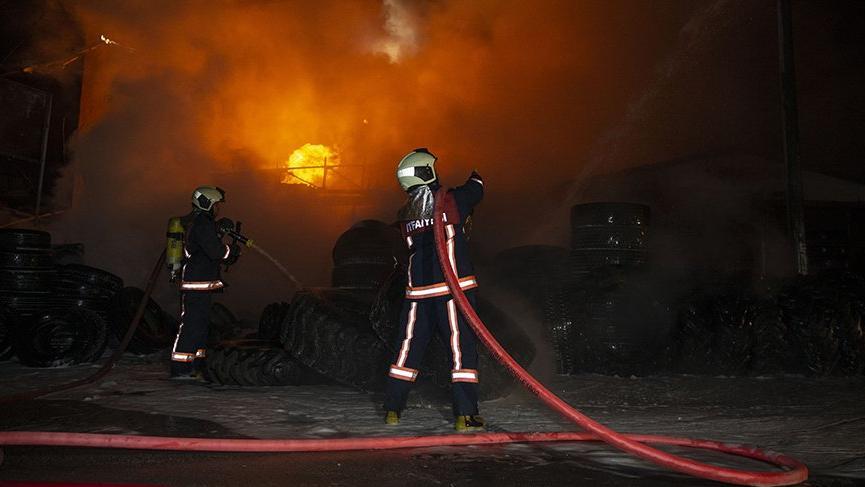 Başkentte organize sanayi bölgesinde yangın!