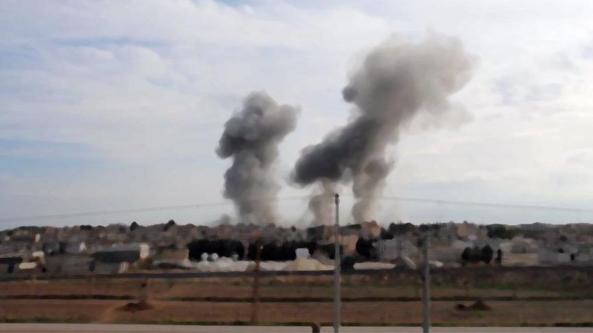Menbiç'te YPG/PKK'nın sözde askeri meclis merkezinde büyük patlama