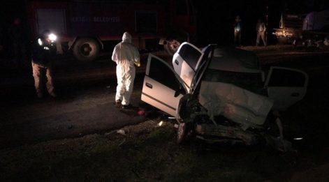 Tokat'ta TIR'la çarpışan otomobildeki 2 polis hayatını kaybetti, 2 kişi yaralandı