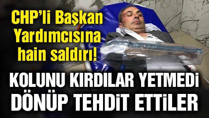 CHP'li Belediye Başkan Yardımcısına saldırı!