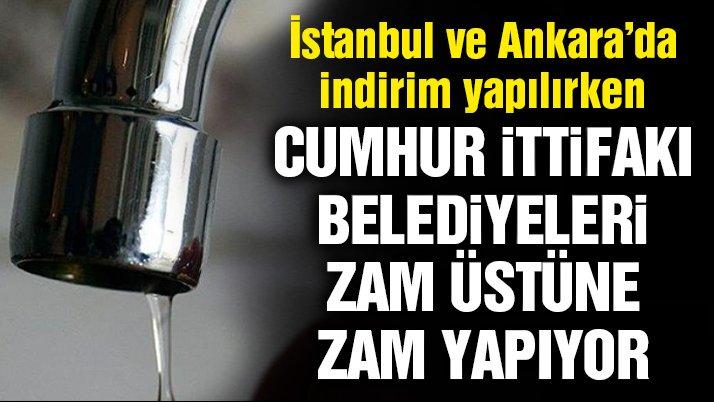 Suya bir zam da AKP'li Samsun Büyükşehir Belediyesi'nden!