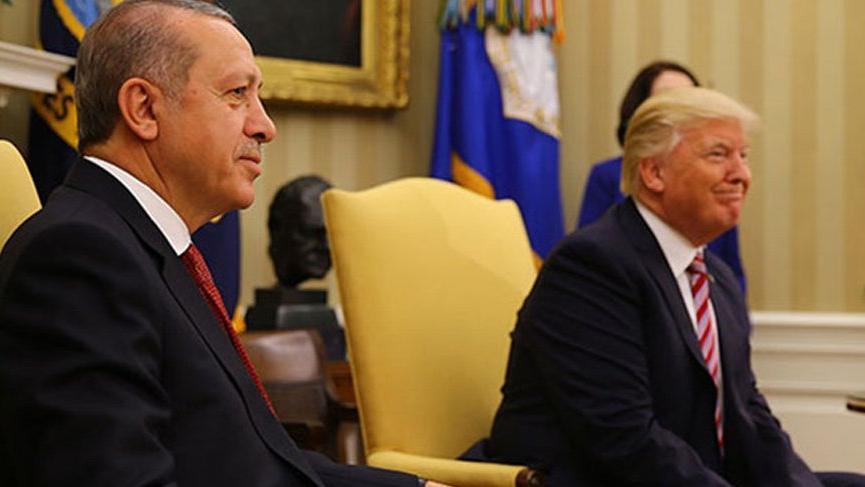 Erdoğan, Trump'la telefonla görüştü!
