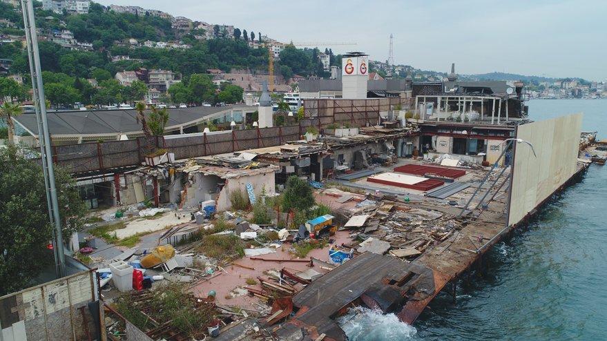 Galatasaray Adası nihayet sökülmeye başlandı!