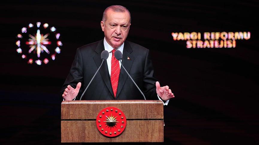 Cumhurbaşkanı Erdoğan Yargı Reformu Strateji Belgesini açıkladı