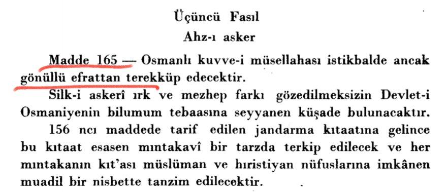 """""""Madde 168, Osmanlı askeri kuvvetleri gelecekte yalnız gönüllü askerlerden oluşacaktır."""" ile ilgili görsel sonucu"""