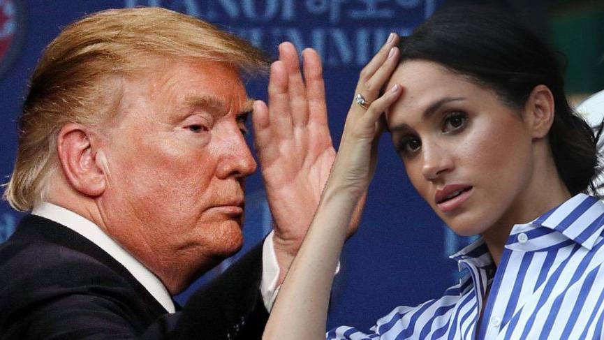 Donald Trump, Meghan'a 'Edepsiz' demediğini argüman ediyor