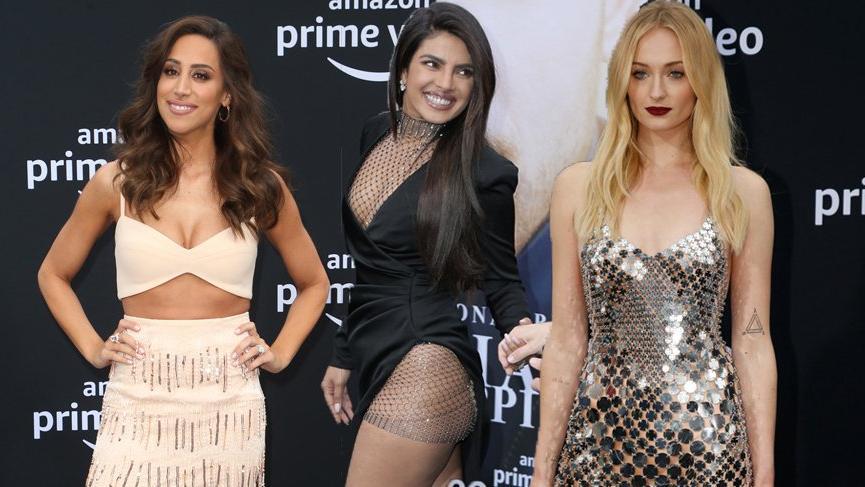 Priyanka Chopra, Sophie Turner ve Danielle Jonas Chasing Happiness galasında