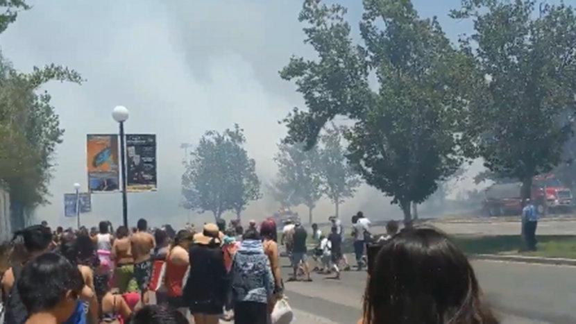 Tema parktaki yangın büyük paniğe neden oldu!