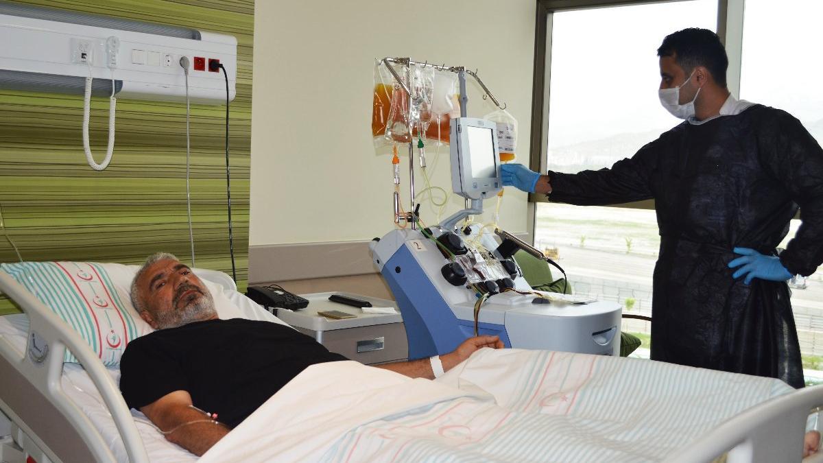 Kayseri Şehir Hastanesinden KKKA'ya 'plazmaferez' ile çözüm