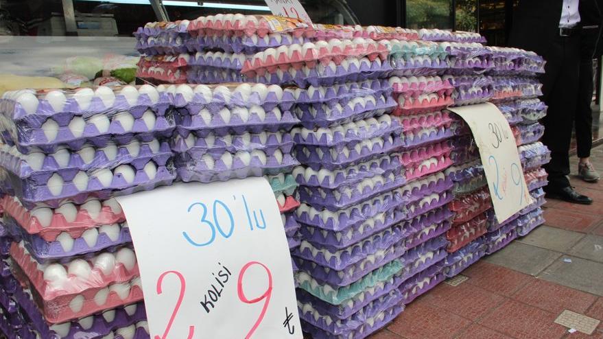 Yumurtanın kolisi 4.5 liraya kadar düştü