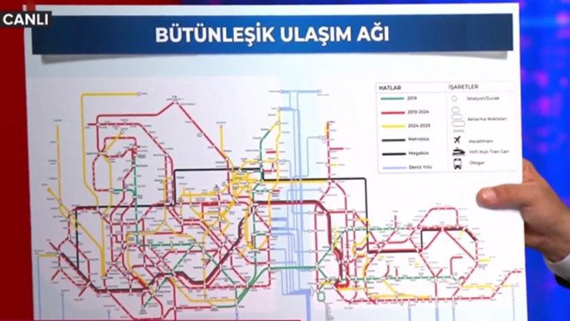 İmamoğlu metro haritasını açıkladı!