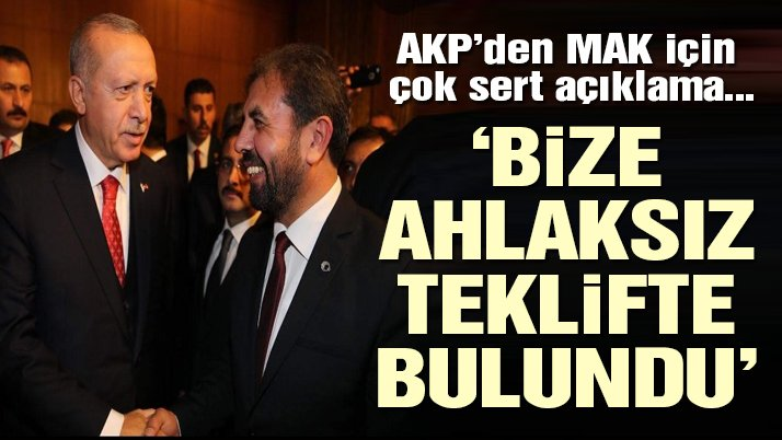AKP'den son dakika anket şirketi açıklaması: MAK ahlaksız bir teklifte bulunmuştu, reddetmiştik