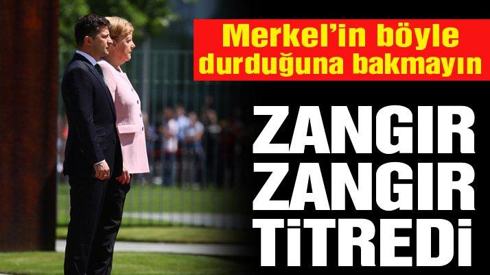 Son dakika... Merkel resmi törende korkuttu