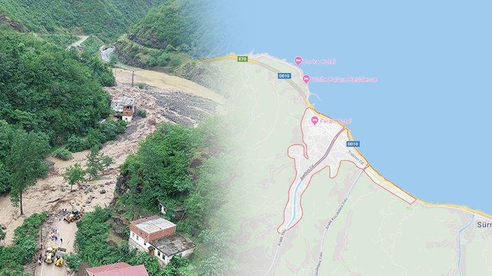 Araklı nerede? Sel felaketi yaşanan Trabzon Araklı'nın haritadaki yeri...