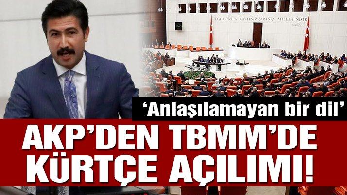 Son dakika… AKP'den Meclis'te Kürtçe açılımı