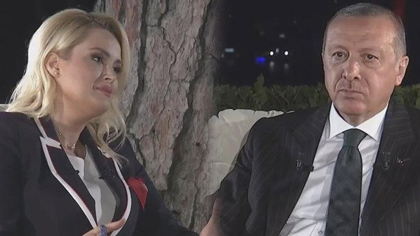 Spikerin 'beni mazur görün' diye başladığı soruya Erdoğan böyle tepki gösterdi!
