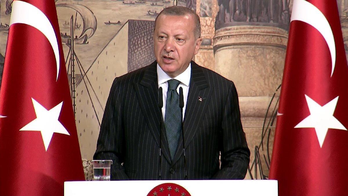 Cumhurbaşkanı Erdoğan yabancı basın mensuplarıyla bir araya geldi