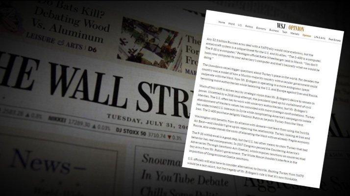 Wall Street Journal'dan ses getirecek 'Türkiye' yazısı