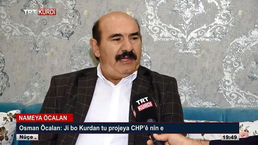 TRT, teröristbaşı Öcalan'ın kardeşi ile röportaj yaptı