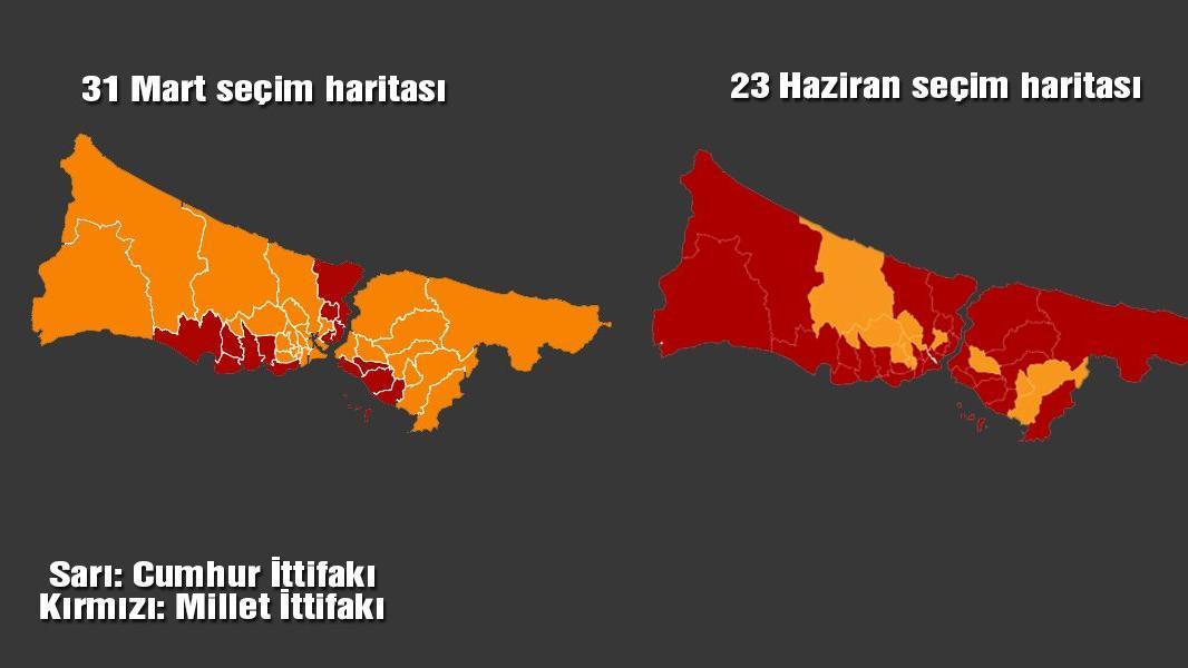 İstanbul'un seçim haritası da değişti