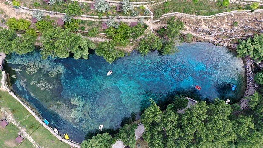 Sivas'ın 'doğal akvaryumu' Gökpınar Gölü