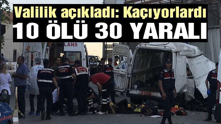 Jandarmadan kaçıyorlardı! En az 10 ölü ve 30 yaralı var!