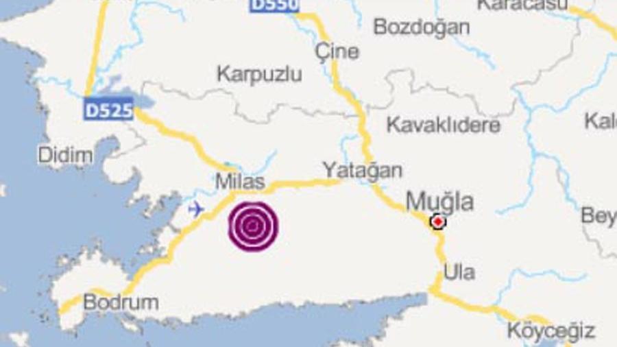 Son depremler: Milas'ta 3,4 büyüklüğünde deprem