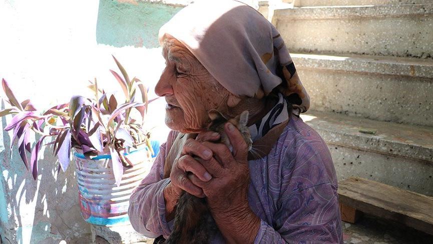 Kedisi amaciyla gözyaşı döken ihtiyar kadın kalp burktu