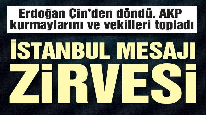Son dakika: İstanbul mesajı ve zirvesi