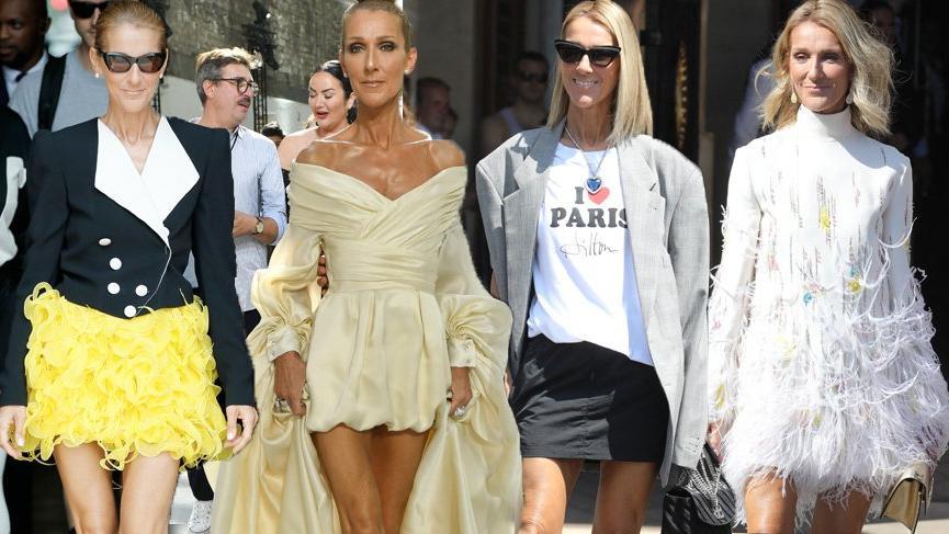 Celine Dion Paris Couture Haftası'ndaki stiliyle yüksek moda anlayışını ortaya koydu