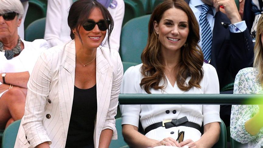 Kate Middleton ve Meghan Markle Wimbledon Tenis Turnuvası'nda